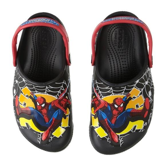 0f2d811e2 Lightup Spiderman Crocs Toddler 4 NWT